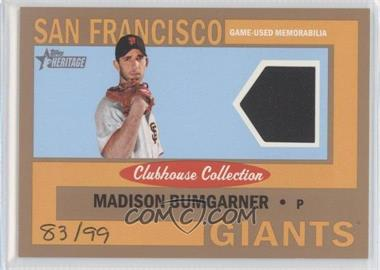 2013 Topps Heritage - Clubhouse Collection Relics - Gold #CCR-MB - Madison Bumgarner /99