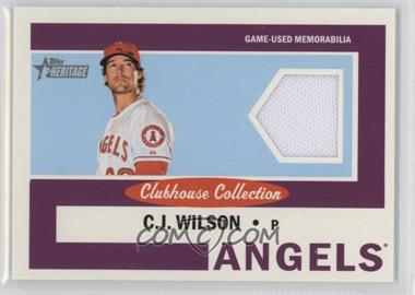 2013 Topps Heritage - Clubhouse Collection Relics #CCR-CW - C.J. Wilson