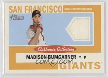 2013 Topps Heritage - Clubhouse Collection Relics #CCR-MB - Madison Bumgarner