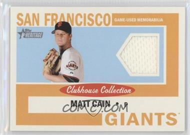 2013 Topps Heritage - Clubhouse Collection Relics #CCR-MC - Matt Cain