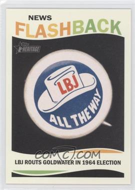 2013 Topps Heritage - News Flashback #NF-LBJ - Lyndon B. Johnson