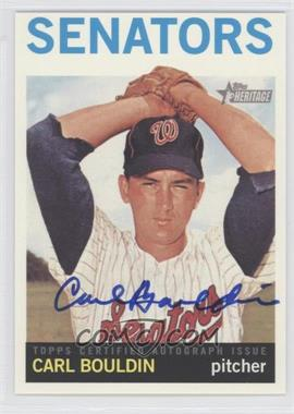 2013 Topps Heritage - Real One Certified Autographs #ROA-CB - Carl Bouldin