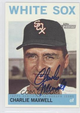 2013 Topps Heritage - Real One Certified Autographs #ROA-CM - Charlie Maxwell