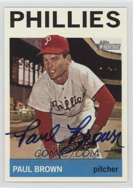 2013 Topps Heritage - Real One Certified Autographs #ROA-PB - Paul Brown