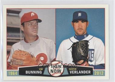 2013 Topps Heritage - Then and Now #TN-BV - Jim Bunning, Justin Verlander