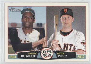 2013 Topps Heritage - Then and Now #TN-CP - Roberto Clemente, Buster Posey