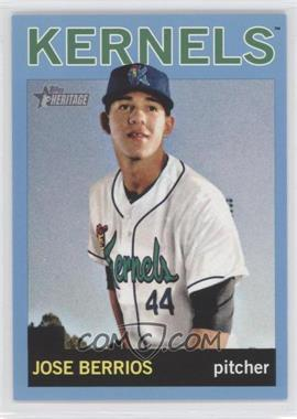 2013 Topps Heritage Minor League Edition - [Base] - Blue #102 - Jose Berrios /1