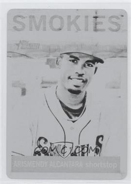 2013 Topps Heritage Minor League Edition - [Base] - Printing Plate Black #56 - Arismendy Alcantara /1