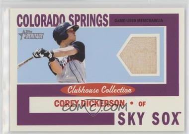 2013 Topps Heritage Minor League Edition - Clubhouse Collection Relics #CCR-CD - Corey Dickerson