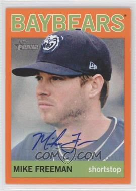 2013 Topps Heritage Minor League Edition - Real One Autographs - Orange #ROA-MF - Mike Freeman /5
