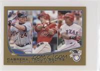 2012 AL Batting Average Leaders (Miguel Cabrera, Mike Trout, Adrian Beltre) #/62