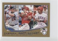 2012 AL Batting Average Leaders (Miguel Cabrera, Mike Trout, Adrian Beltre) /62