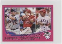 2012 AL Batting Average Leaders (Miguel Cabrera, Mike Trout, Adrian Beltre) /25