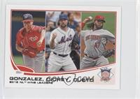 2012 NL Wins Leaders (Gio Gonzalez, R.A. Dickey, Johnny Cueto)