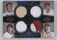 Mike Trout, Mark Trumbo, C.J. Wilson, Jered Weaver #/99