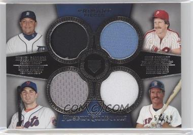 2013 Topps Museum Collection - Primary Pieces Four Player Quad Relics #PPFQR-7 - Miguel Cabrera, Mike Schmidt, David Wright, Wade Boggs /99