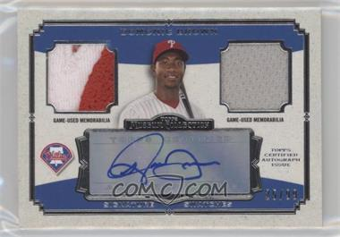 2013 Topps Museum Collection - Signature Swatches Autograph Dual Relics #SSADR-DB - Domonic Brown /99