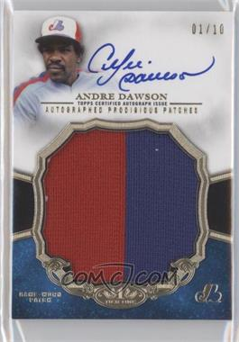 2013 Topps Tier One - Prodigious Patches - Autograph [Autographed] #PPAR-AD - Andre Dawson /10