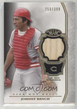 2013 Topps Tier One - Relics #TOR-JB - Johnny Bench /399