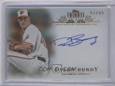 2013 Topps Tribute - Certified Autograph Issue - [Autographed] #TA-DB - Dylan Bundy /99