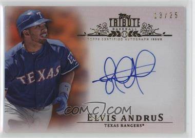 2013 Topps Tribute - Certified Autograph Issue - Orange [Autographed] #TA-EA - Elvis Andrus /25
