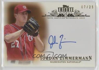 2013 Topps Tribute - Certified Autograph Issue - Orange [Autographed] #TA-JZ - Jordan Zimmermann /25