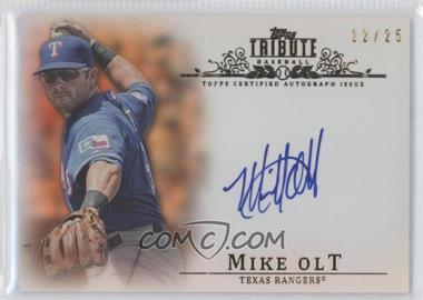 2013 Topps Tribute - Certified Autograph Issue - Orange [Autographed] #TA-MO2 - Mike Olt /25
