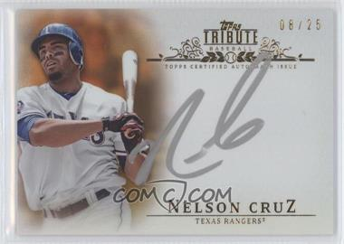 2013 Topps Tribute - Certified Autograph Issue - Orange [Autographed] #TA-NC - Nelson Cruz /25