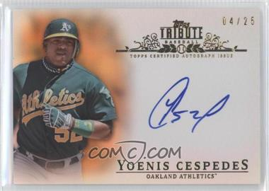 2013 Topps Tribute - Certified Autograph Issue - Orange [Autographed] #TA-YC3 - Yoenis Cespedes /25