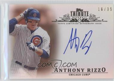 2013 Topps Tribute - Certified Autograph Issue - Sepia [Autographed] #TA-AR3 - Anthony Rizzo /35