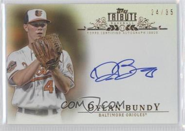 2013 Topps Tribute - Certified Autograph Issue - Sepia [Autographed] #TA-DB2 - Dylan Bundy /35