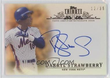 2013 Topps Tribute - Certified Autograph Issue - Sepia [Autographed] #TA-DST - Darryl Strawberry /35