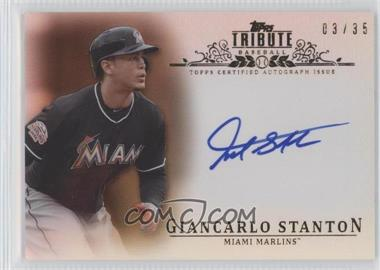2013 Topps Tribute - Certified Autograph Issue - Sepia [Autographed] #TA-GS - Giancarlo Stanton /35