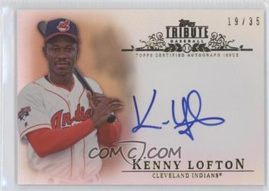 2013 Topps Tribute - Certified Autograph Issue - Sepia [Autographed] #TA-KL - Kenny Lofton /35