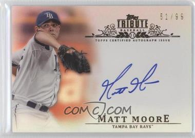 2013 Topps Tribute - Certified Autograph Issue - Sepia [Autographed] #TA-MM3 - Matt Moore /35