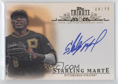 2013 Topps Tribute - Certified Autograph Issue - Sepia [Autographed] #TA-SM - Starling Marte /35