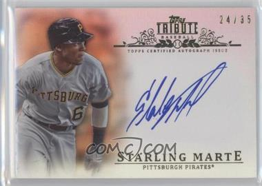 2013 Topps Tribute - Certified Autograph Issue - Sepia [Autographed] #TA-SM3 - Starling Marte /35