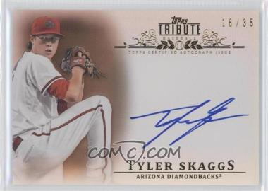 2013 Topps Tribute - Certified Autograph Issue - Sepia [Autographed] #TA-TSK - Tyler Skaggs /35