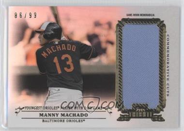 2013 Topps Tribute - Commemorative Cuts Relics #CC-MM - Manny Machado /99