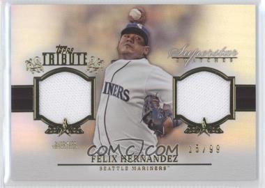2013 Topps Tribute - Superstar Swatches Relics #SS-FH - Felix Hernandez /99