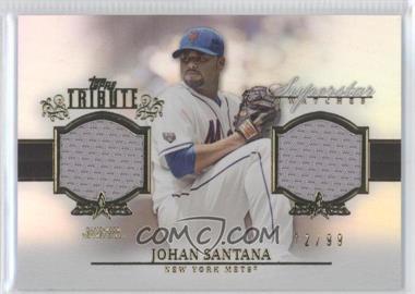 2013 Topps Tribute - Superstar Swatches Relics #SS-JS - Johan Santana /99