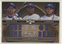Jose Bautista, Edwin Encarnacion, Melky Cabrera #/27