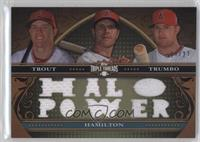 Mike Trout, Mark Trumbo, Josh Hamilton /27