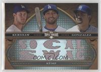 Clayton Kershaw, Matt Kemp, Adrian Gonzalez #/36