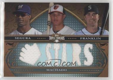 2013 Topps Triple Threads - Relic Combos #TTRC-SMF - Jean Segura, Manny Machado, Nick Franklin /36