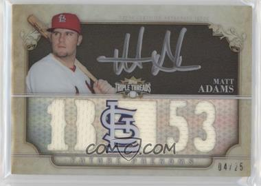 2013 Topps Triple Threads - Rookie and Future Phenom Autographed Relics - Black Silver Ink #149 - Future Phenoms - Matt Adams /25
