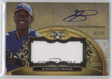 2013 Topps Triple Threads - Unity Autograph Jumbo Relics - Gold #UAJR-JP1 - Jurickson Profar /25