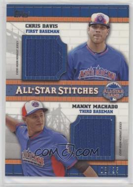 2013 Topps Update Series - All-Star Stitches - Dual #ASD-DM - Chris Davis, Manny Machado /25