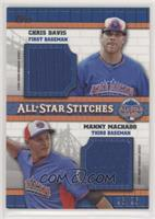 Chris Davis, Manny Machado [Noted] #/25