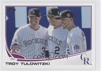 Troy Tulowitzki (With Rockies Teammates)